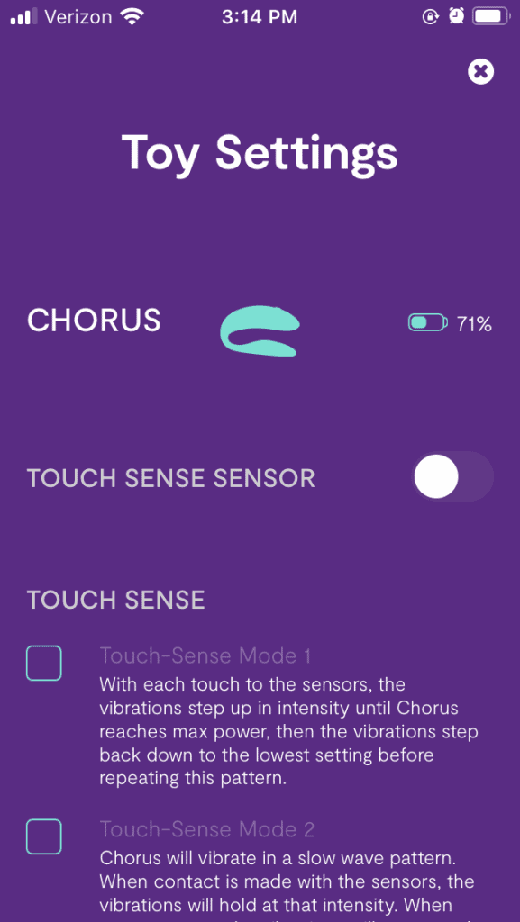 Chorus Battery Info