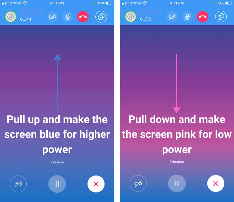 Long Distance Partner Control in Satisfyer Connect App