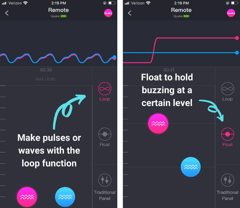 Loop and Float Lovense Quake Patterns