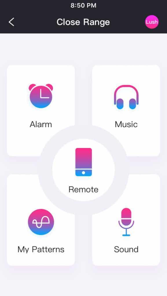 Lovense Remote App Control Screen