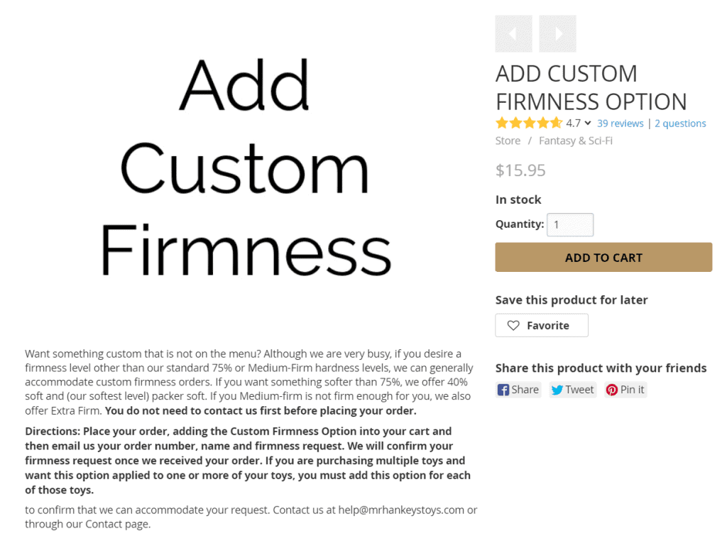 Mr Hankeys Custom Firmness