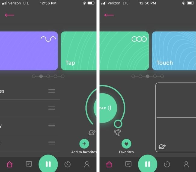 OhMiBod Remote App Swiping