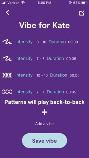 We-Vibe Pattern Sequence